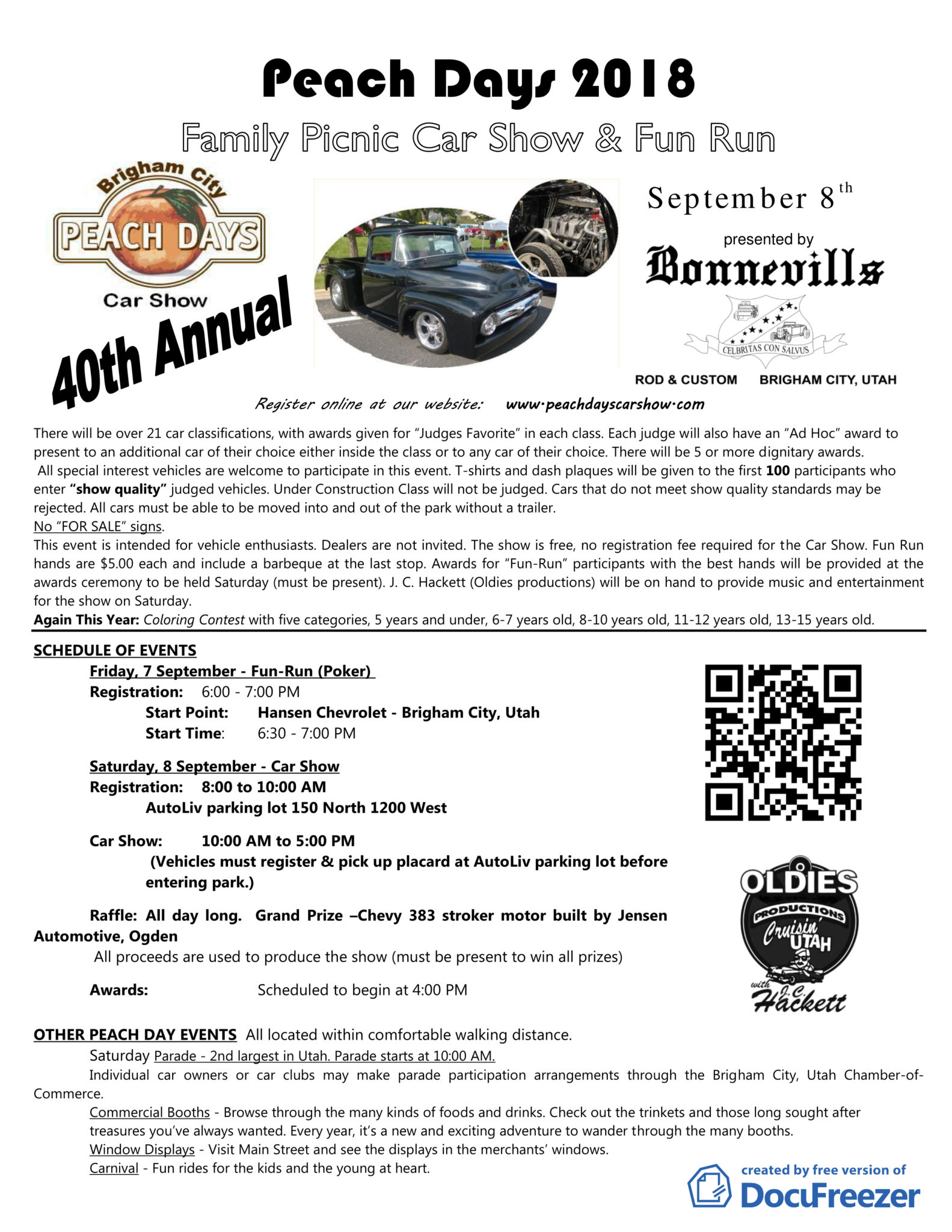 Peach Days Car Show Desert Cruzin - Jc hackett car show calendar